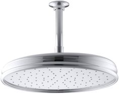 Buy the Kohler Polished Chrome Direct. Shop for the Kohler Polished Chrome Traditional Round GPM Rainhead with Katalyst Air-Induction Spray Technology and save. Brass Shower Head, Shower Arm, Rain Shower, Shower Heads, Gold Shower, Header, Kohler Faucet, Faucets, Shower Installation