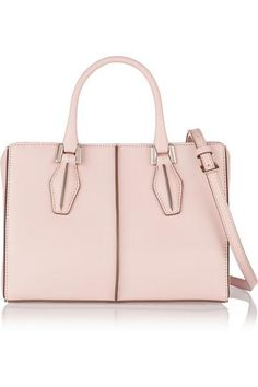 Tod's|D Cube Shopping mini leather tote#accessories #women #pink #leather