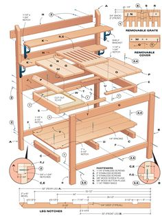 DIY Potting Bench | The Urban Domestic Diva: CRAFTS: A Victorian Country Potting Bench