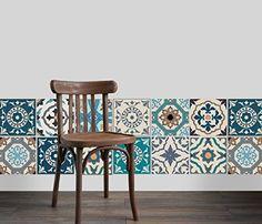 Dekorative Stickerfliesen mit tollen Motiven und Ornamenten für Wände und Fliesen | 12 teiliges Set | seidenmatt | 15x15cm