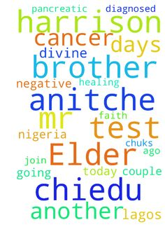 My Elder brother, Mr. Harrison Chiedu - My Elder brother, Mr. Harrison Chiedu Anitche was diagnosed with Pancreatic Cancer a couple of days ago and going for another test today. I pray you join faith with me for divine healing and all further tests to be negative in Jesus name, Amen. Chuks Anitche Lagos, NIGERIA.  Posted at: https://prayerrequest.com/t/nal #pray #prayer #request #prayerrequest