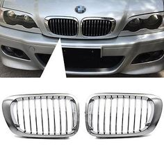 Chrome #black front #kidney hood grill grille for bmw e46 3 series 2door #1998-20,  View more on the LINK: http://www.zeppy.io/product/gb/2/272029265446/