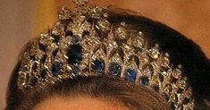The Dutch Sapphire Tiara   One of the big guns, so to speak, in the Dutch royal collection is their massive sapphire tiara. It includes 65...
