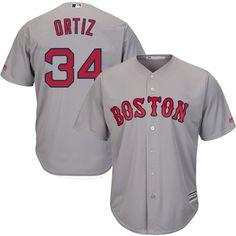 05df273427e46f David Ortiz Boston Red Sox Majestic Cool Base Player Jersey - Gray   BostonRedSox
