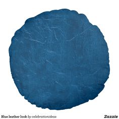 Sold. #Blue #leatherlook round #pillow Available in different products. Check more at www.zazzle.com/celebrationideas