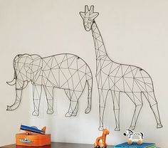 Yum I am loving these, especially the elephant! Wire Animal Decor #pbkids