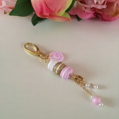 Mini macaron stack planner charm/purse charm  Spring by mahalmade