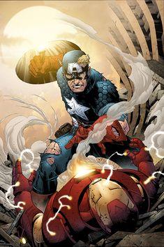 Best fighting scene in mcu Captain America vs Iron man Marvel Dc, Marvel Fight, Marvel Comics Superheroes, Marvel Characters, Marvel Heroes, Captain America Villains, Captain America Art, Young Guns, Capitan America Comic
