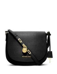 MICHAEL MICHAEL KORS Large Saffiano - Leather Messenger Bag Crossbody