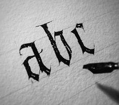 Gothic calligraphy.