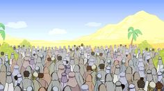 WIld Bible Mark 8:1-9 (CEV) Jesus Feeds the Four Thousand. Mark 8:1-9 (CEV) Jesus Feeds the Four Thousand Animated Stories about Jesus for c...