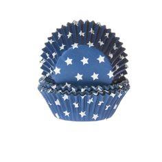 Blaue Sterne Cupcake Förmchen