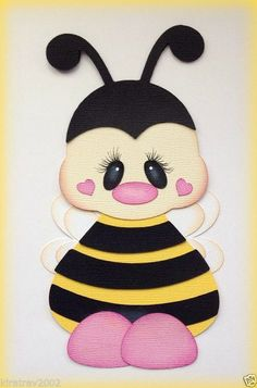 LARGE BUMBLE BEE SPRING INSECT PAPER PIECING BY MY TEAR BEARS