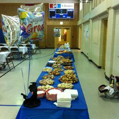 Goodie table at graduation party