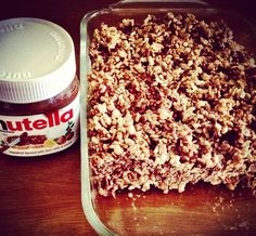 Share Tweet + 1 Mail  Nutella Rice Krispies Treats *Pin this recipe if you like it* Ingredients: 4 Tablespoons of butter 1 Package of ...