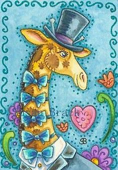 Art 'TOP HAT AND BOW TIE' - by Susan Brack from GIRAFFE