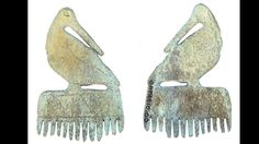 Effigy comb (sand piper, one of the nine Seneca clans) found in a brass kettle eroding out of a bank at Ganandagan (Boughton Hill site) – the brass verdigris penetrated the porous antler surface, turning it green, and also helping to preserve it. American Indian Art, Native American Indians, Vikings, Arrow Of Time, World Hair, Island 2, Indian Artifacts, Effigy, Indigenous Art