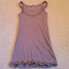 GUC AE lace tank Soft tank from American Eagle Outfitters, shimmery brown with an almost copper tinge, gorgeous alone or under other tops. Smoke free, dog friendly home. Open to reasonable offers. American Eagle Outfitters Tops Tank Tops