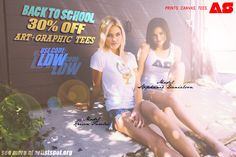 BACK TO SCHOOL 30% OFF ALL ART + GRAPHIC TEES AT http://www.artistspot.org/
