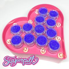 """""""#Sugarpill Hellatronic sparkling neon pigment is back in stock and better than ever! Our new and improved formula gives you more staying power and less…"""""""