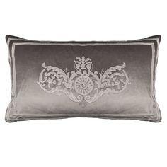 Lili Alessandra Paris Velvet Silver Pillow Sham
