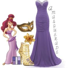 """""""A Masquerade: Megara"""" by helsingmusique on Polyvore"""