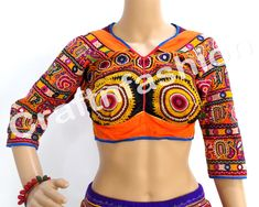 traditional Dress Choli India Backless blouse belly dance blouse   by  #CraftsOfGujarat #craftnfashion #meghcraft #indianethnicjewelry #IndianTraditionalJewelry Megh Craft - Indian Ethnic Jewelry