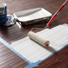 Ever thought of painting your hardwood floors? It's a great way to cover up scratches, fading, and generally ragged hardwoods. Here's a step-by-step for getting it done!