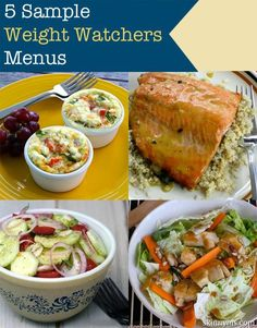 Eat clean and follow Weight Watchers!  These 5 Sample Weight Watchers Menus are fantastic!  #ww #weightwatchers #weightloss #skinnyms #menu #recipes