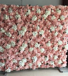 Rose Flower Wall Backdrop for Wedding Photography Background Artificial Flowers for Home Decor or Birthday Party Decoration Panel Flower Wall Backdrop, Floral Backdrop, Diy Backdrop, Wall Backdrops, Photo Backdrops, Flower Wall Wedding, Wedding Flowers, Rose Wall, Wedding Arrangements