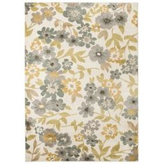 Threshold™ Soft Floral Area Rug - Cream/Blue