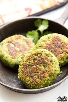Kebabs made with Spinach, Green Peas and Potato. Full of greens, delicious & vegan!