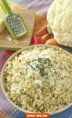 Making Roasted Cauliflower Rice with garlic and Parmesan cheese couldn't be easier using FROZEN cauliflower rice from the frozen foods aisle! It's a game changer! Parmesan Roasted Cauliflower, Frozen Cauliflower Rice, Cauliflower Curry, Cauliflower Recipes, Cauli Rice, Low Carb Dinner Recipes, Delicious Dinner Recipes, Side Dish Recipes, Best Side Dishes