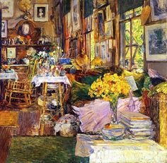 Frederick Childe Hassam (1859-1935). The Room of Flowers