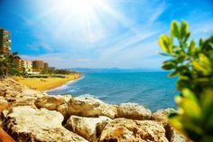 Coastal beach view, Torremolinos, Costa Del Sol, Malaga region, Spain. http://www.jddiscounttravel.co.uk/destinations/europe/spain/costa-del-sol/torremolinos