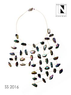 #loranikolova #bijoux&art #necklace #colors #art #madeinitaly Jewelry Necklaces, Diy Jewellery, Statement Necklaces, Composition Design, Disc Necklace, Pattern Cutting, Fantasy Jewelry, Fabric Manipulation, Artisan Jewelry