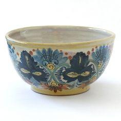 Emilia Ceramics Blue Floral Serving Bowl