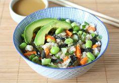Sushi Salad #vegetarian #salad #sushi
