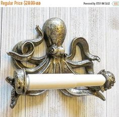 Super Sale Octopus Toilet Paper Holder by SouthTexasHomeDecor