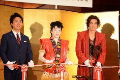 【リニューアル記念式典開催】髙島宗一郎市長、市川猿之助さん、平岳大さんがご登壇。「博多座の音響はまるで映画館の迫力。劇場の素晴らしさを活かす為演出も変え、ワンピースの最終形態をお見せできと思います」と猿之助さん。いよいよ明日初日!