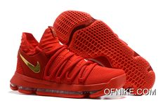 hot sale online bd2cc 71b41 Nike KD 10 Gym Red Gold Best Kd Sneakers, Cheap Sneakers, Discount Sneakers,