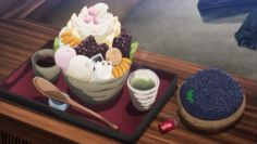 Anmitsu and a bowl of blueberries!Kantai Collection, Episode 3