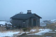 "Fisherman's cottage on the Jurmo island (west coast, Finland). Note the ""Jurmo mist""."