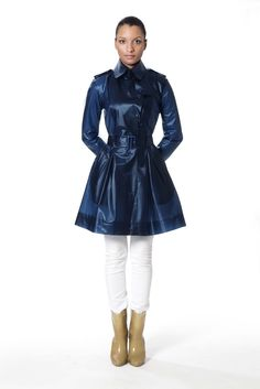 Tribeca trench coat that can withstand heavy rain while projecting a sleek and stylish look. They also have other cool styles.