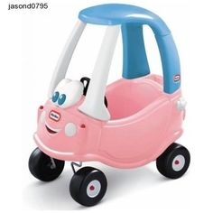 Pink Kids Car Coupe Little Tikes Classic Garden Childrens Fun Ride Play Toy Blue