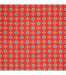 Coupon pur coton Tsukiko rouge - 75 x 50 cm