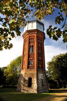 Appleton Watertower - a beautiful Victorian Tower on the Royal Estate, Sandringham. #Hidden #History #Watertower #Architecture #British #Royalty #England #Restoration  http://www.landmarktrust.org.uk/search-and-book/properties/appleton-water-tower-4670