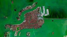 Lagoa de Veneza, do alto