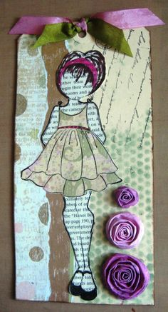 Tag made by Barb Smith using the new Julie Nutting Doll stamp.