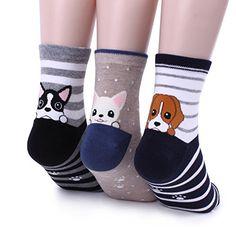 Poket Puppy PRINT WITH HEEL:-) #socks#puppy#cute